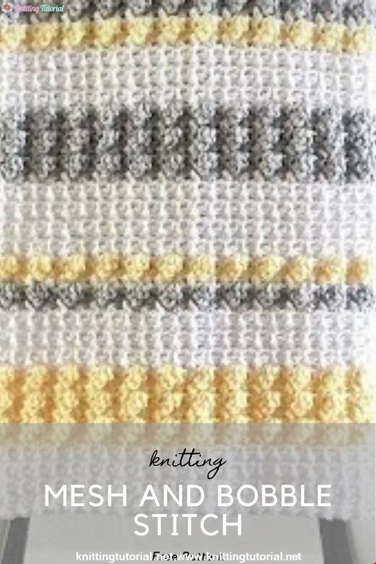 Crochet Mesh and Bobble Stitch