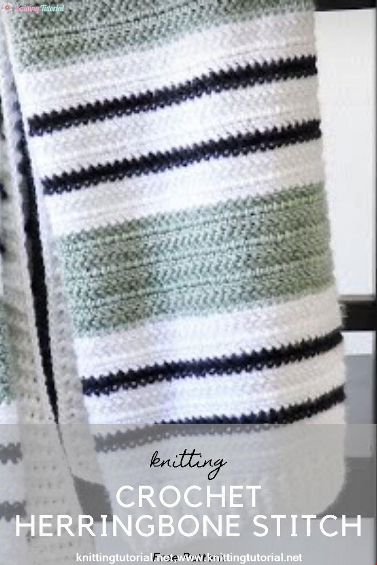 Crochet Herringbone Stitch (Woodland Heather Crochet Blanket)
