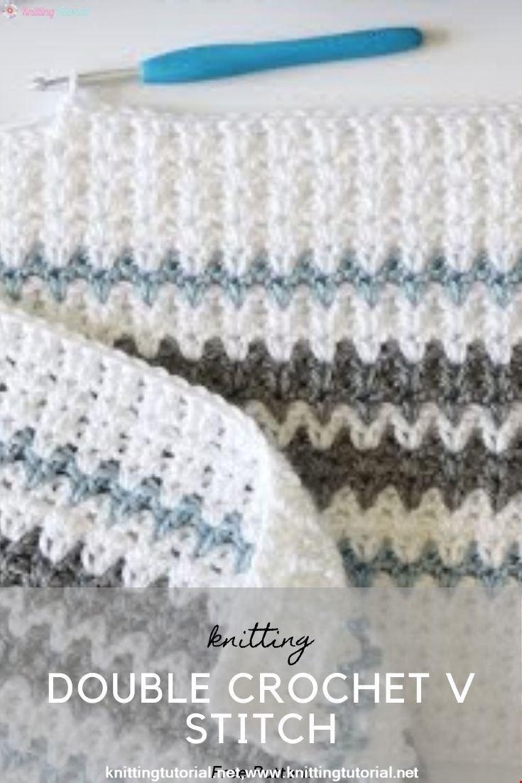 Double Crochet V Stitch