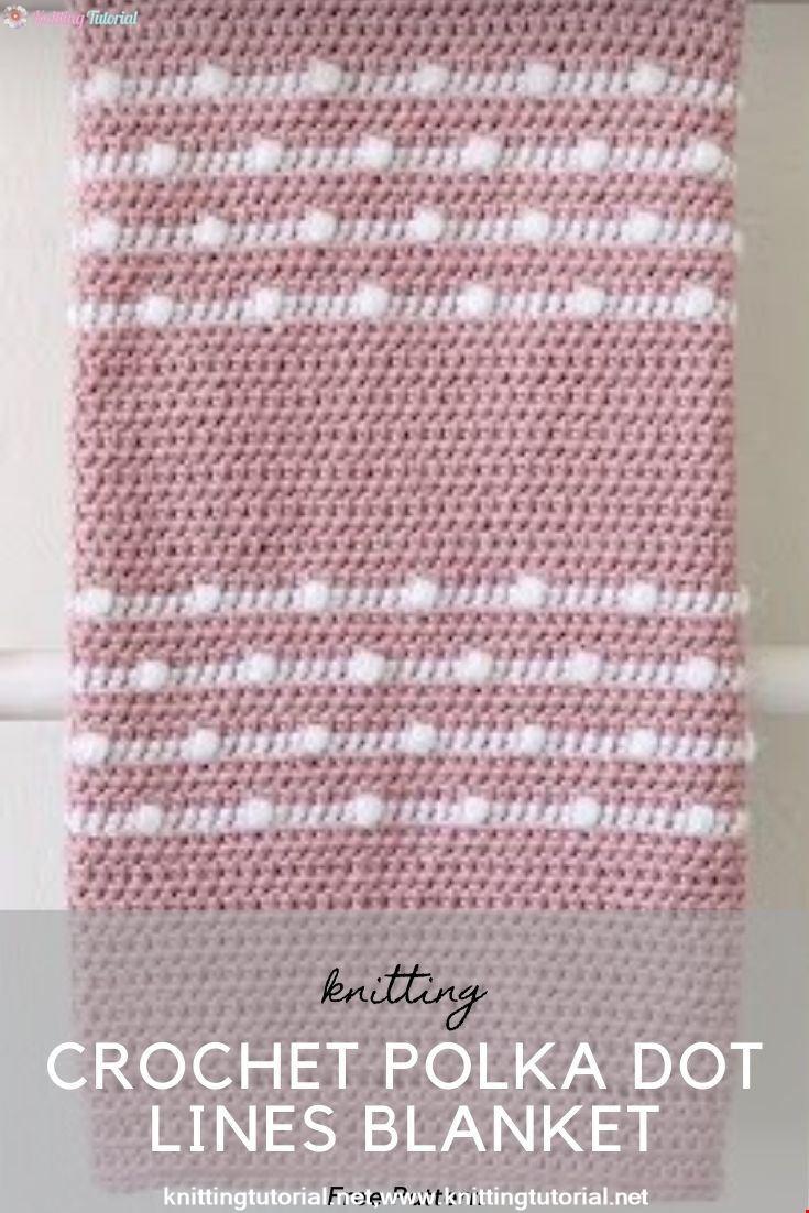 Crochet Polka Dot Lines Blanket