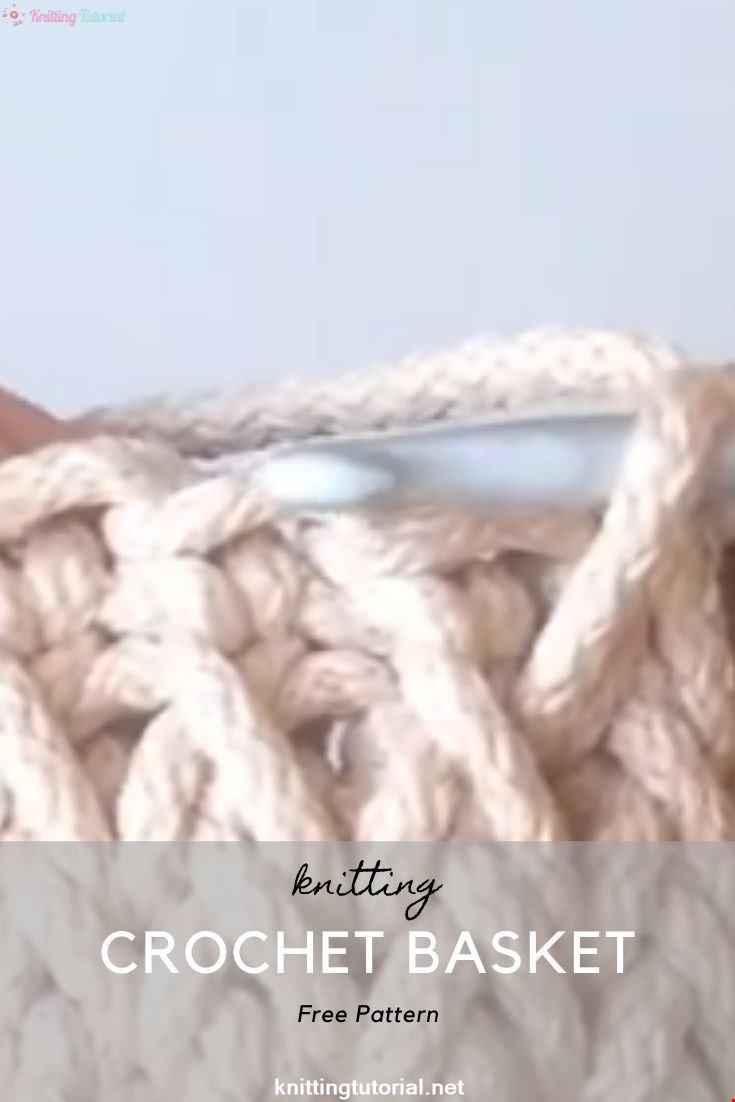 Amazing Crochet Basket Video Tutorial