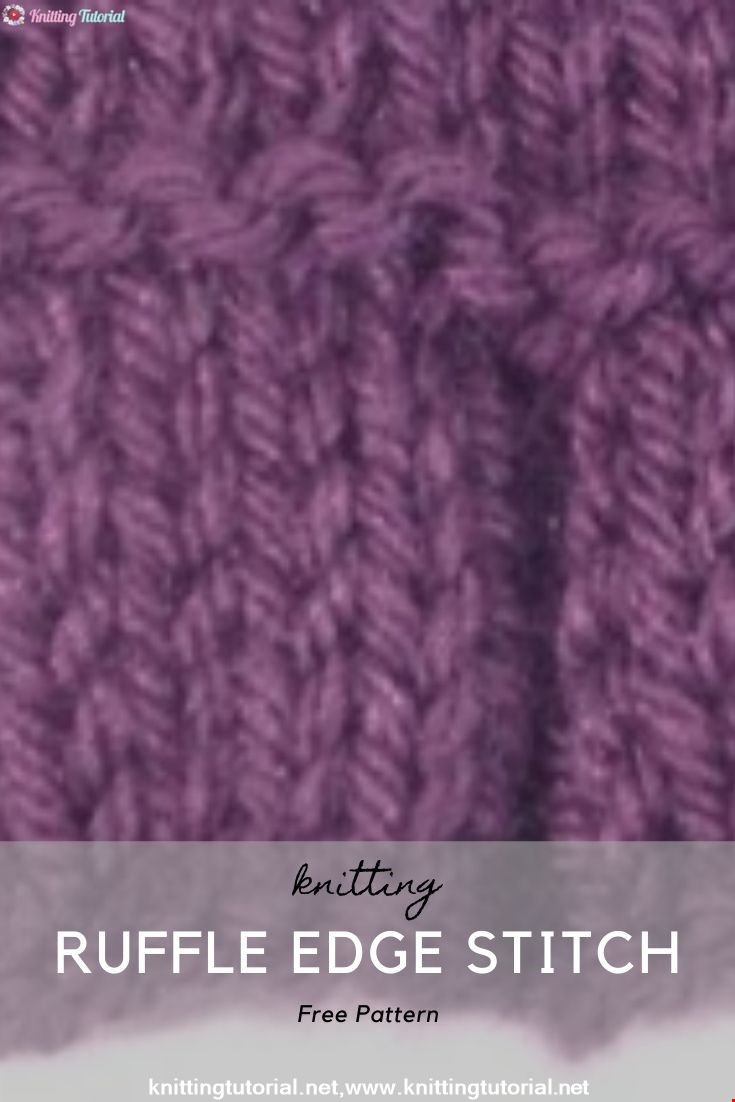 How to Knit the Pleated Ruffle Edge Stitch (English Style)