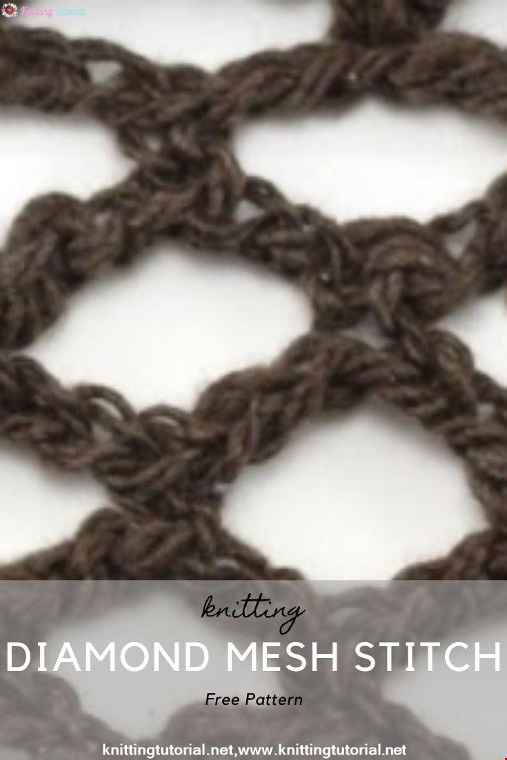 How to Crochet the Diamond Mesh Stitch