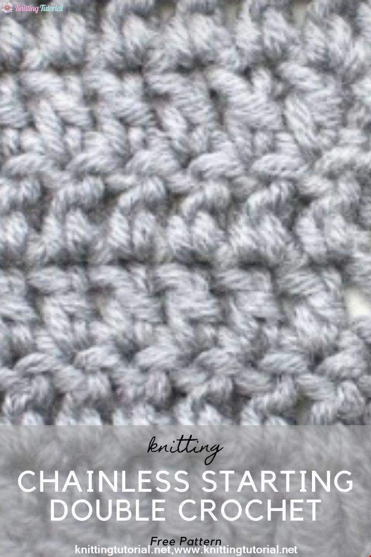 Chainless Starting Double Crochet :: Crochet Technique :: Right Handed