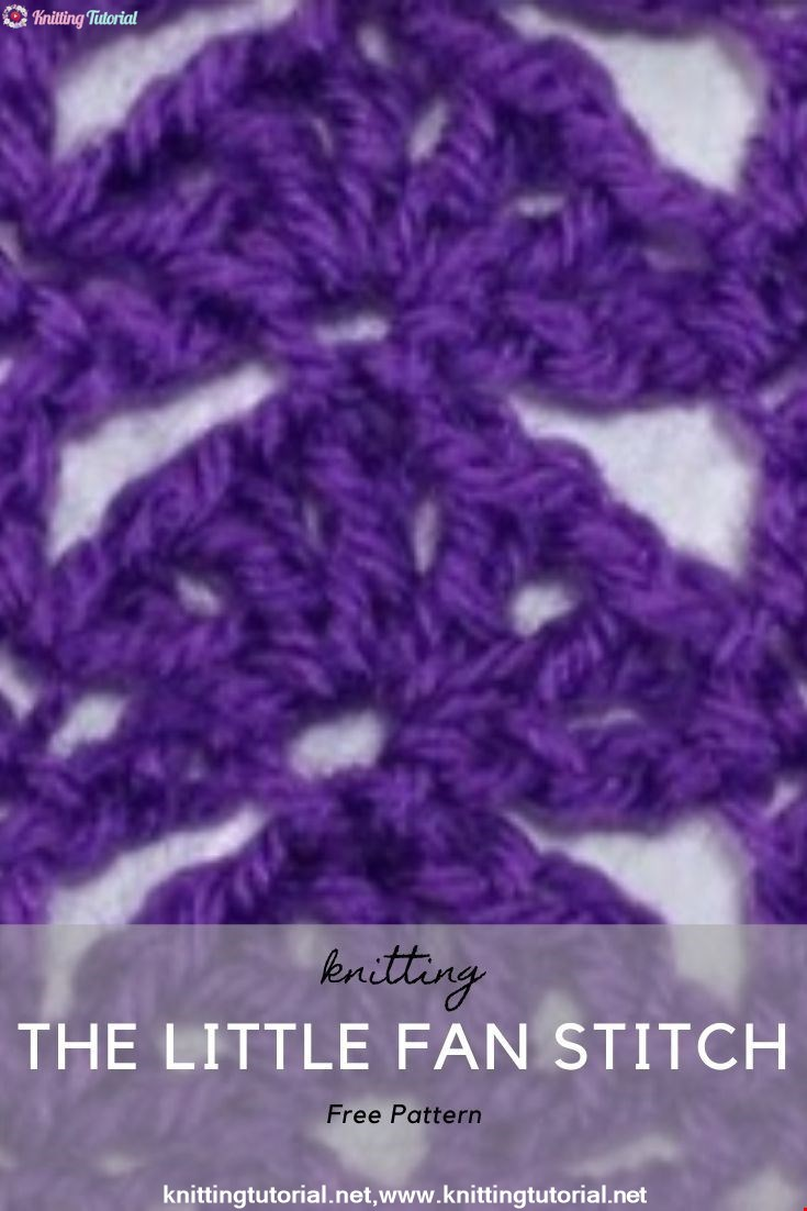 How to Crochet the Little Fan Stitch