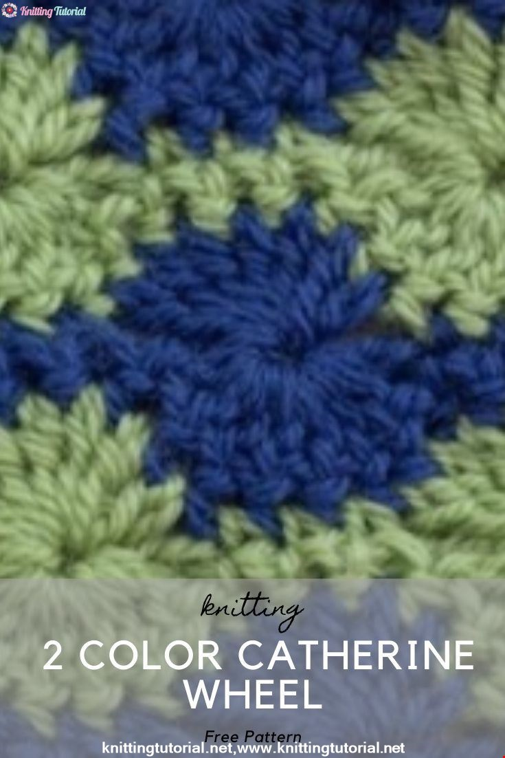 How to Crochet the 2 Color Catherine Wheel