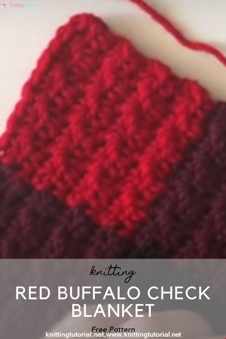 Red Buffalo Check Crochet Blanket