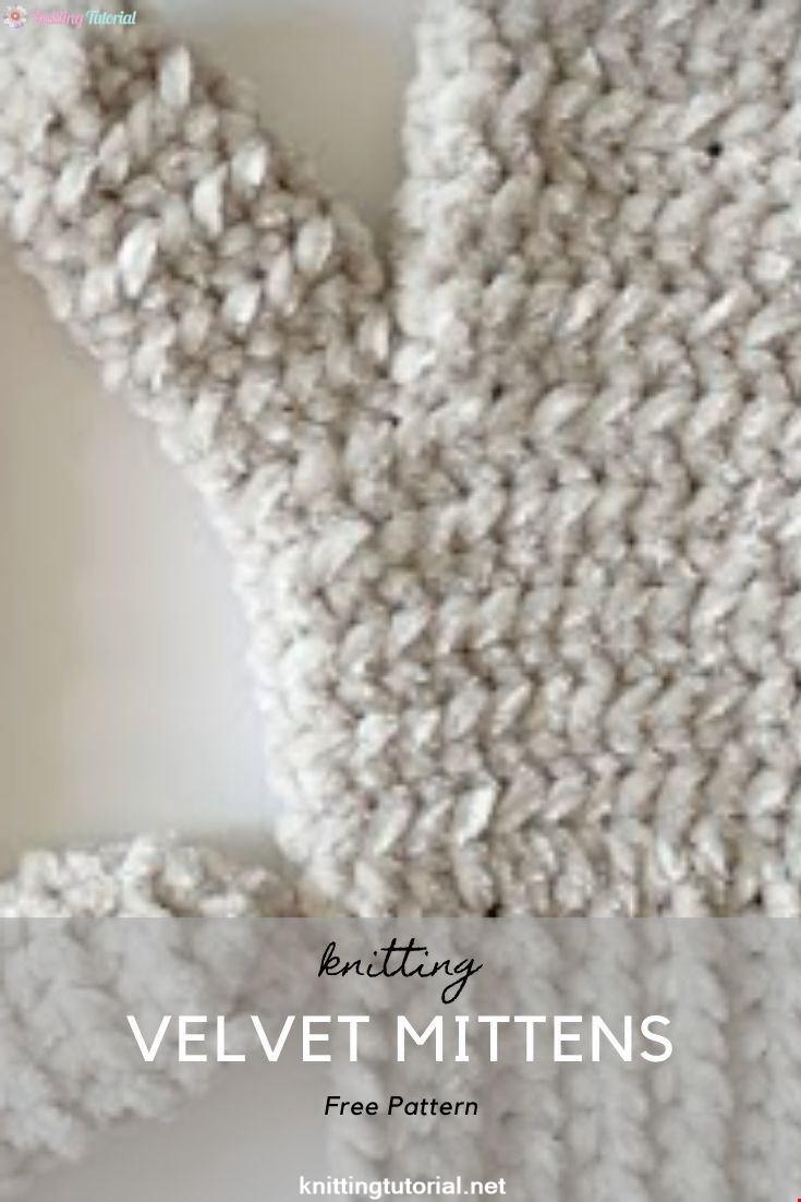 Crochet Velvet Mittens