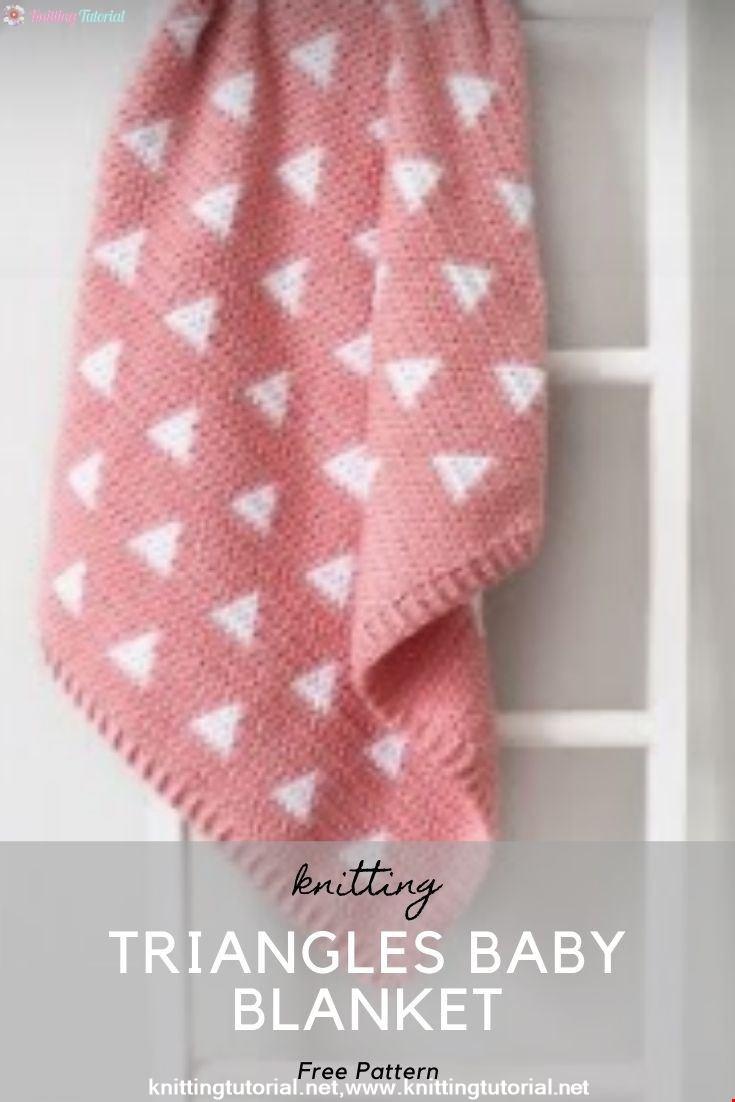 Crochet Triangles Baby Blanket