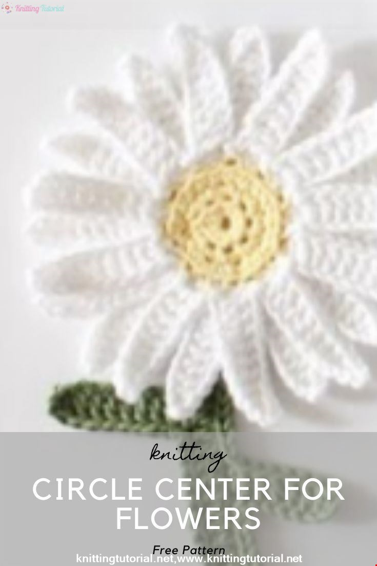 How to Crochet a Circle Center for Flowers