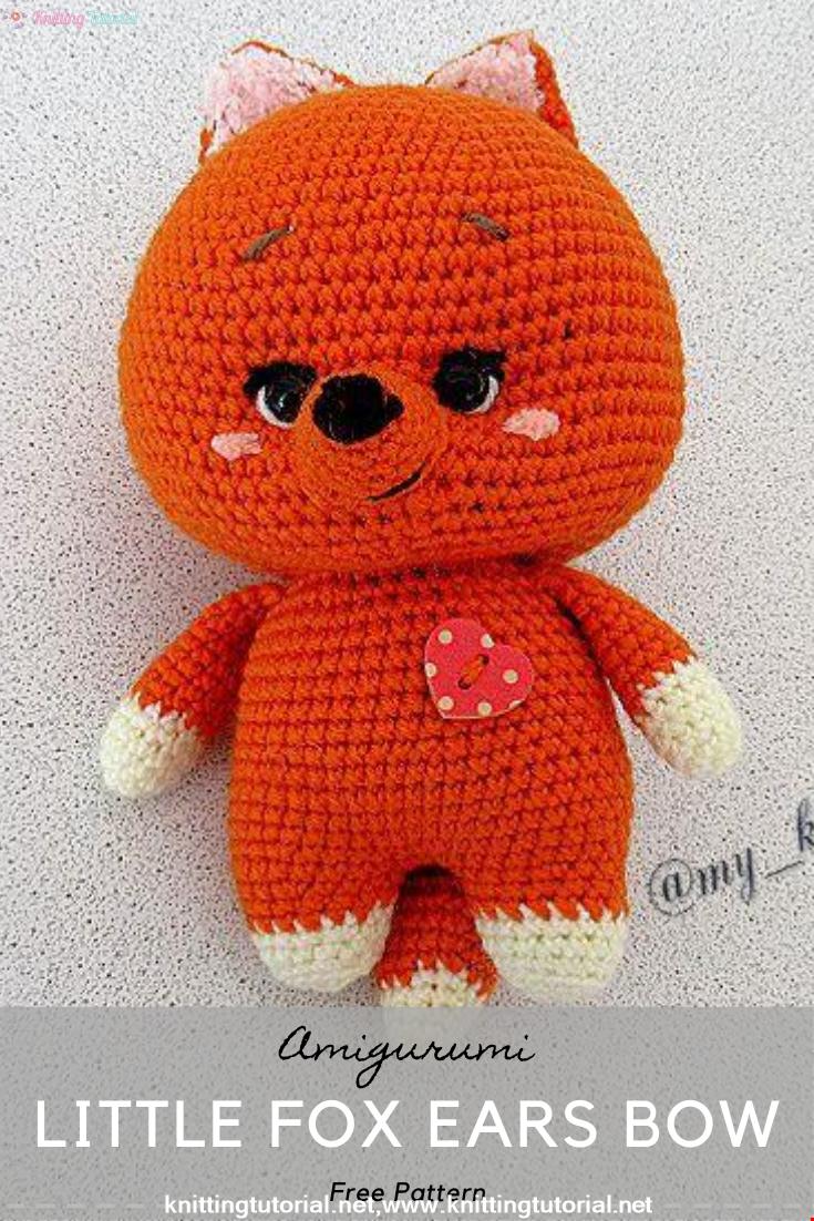 Amigurumi Little Fox Ears Bow Crochet Pattern