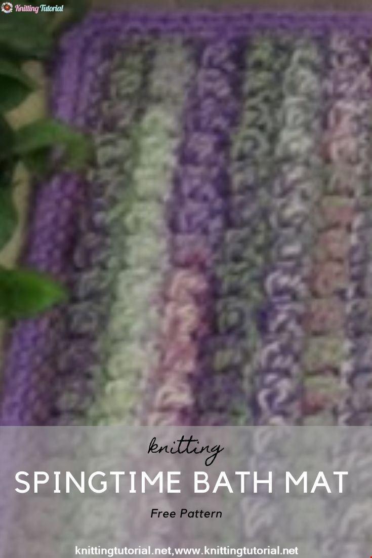 Springtime Bath Mat - Rug Crochet