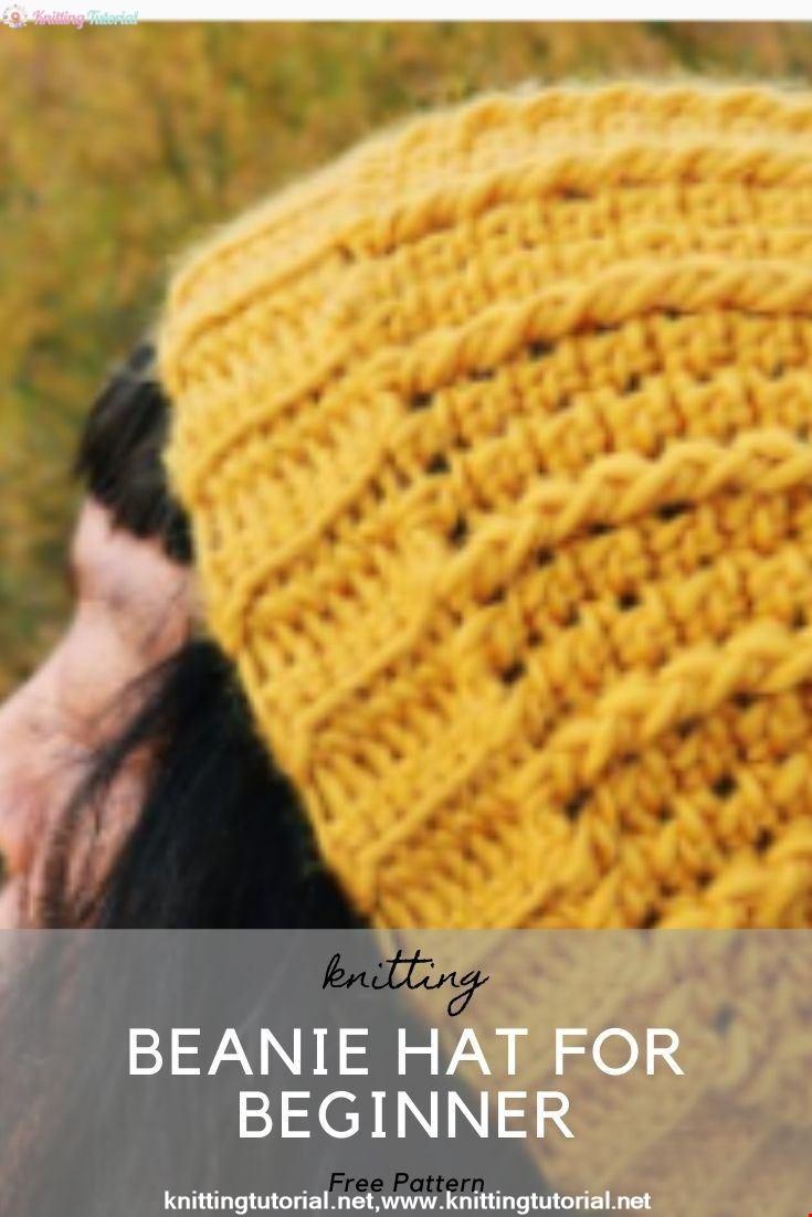 How To Crochet Easy Beanie Hat For Beginner