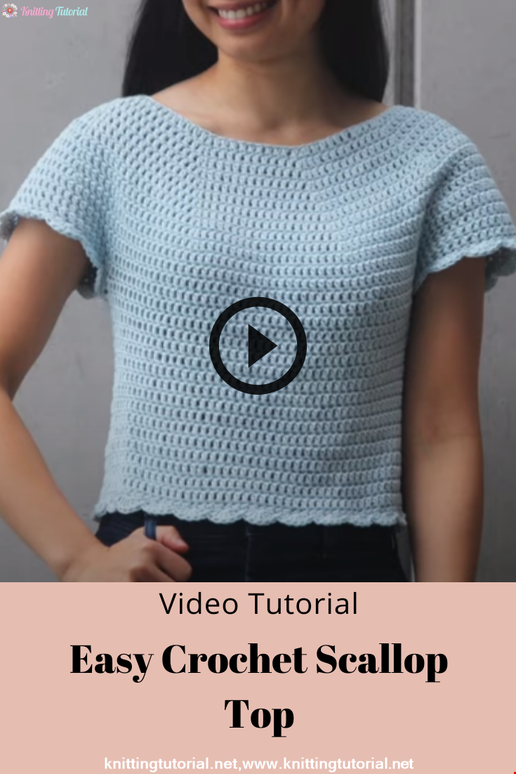 Easy Crochet Scallop Top DIY Tutorial