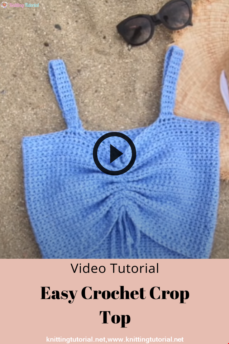 Easy Crochet Crop Top DIY Tutorial