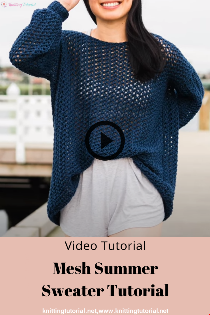 Mesh Summer Sweater Tutorial