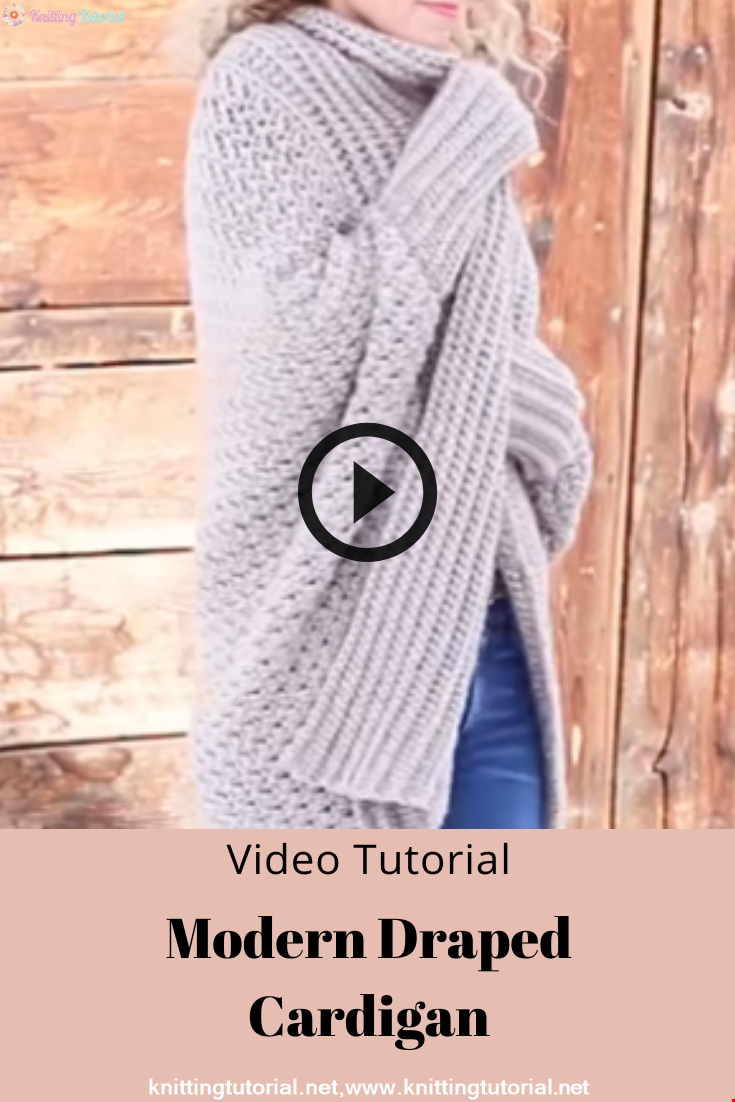 How to Crochet a Modern Draped Cardigan