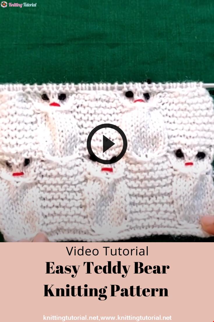 Easy teddy bear knitting pattern