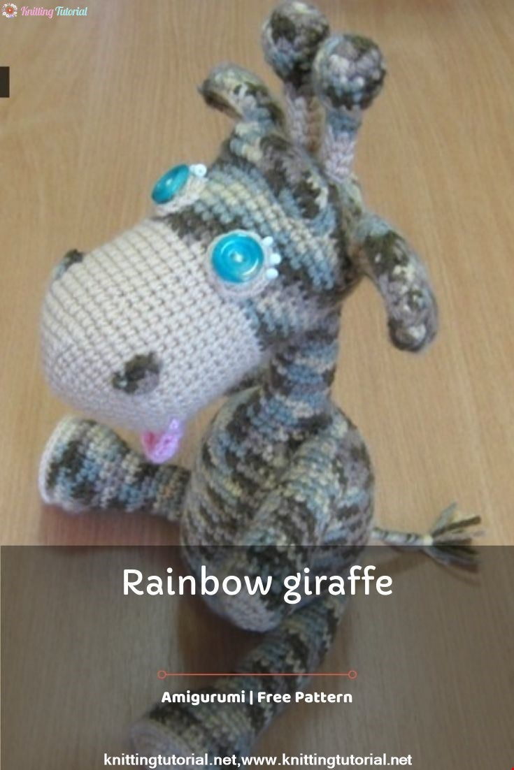 Rainbow Giraffe Amigurumi