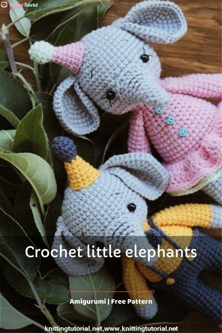 Crochet little elephants