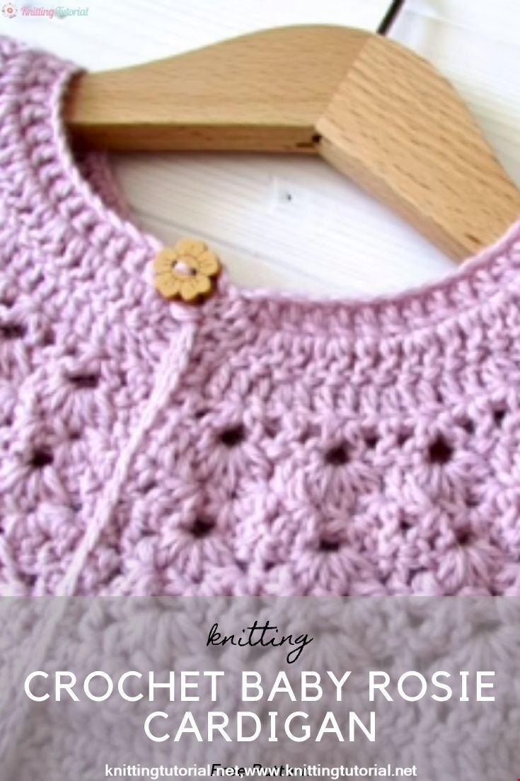 Crochet Baby Rosie Cardigan