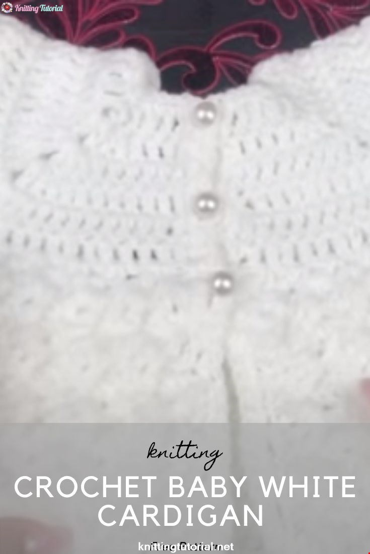 Crochet Baby White Cardigan