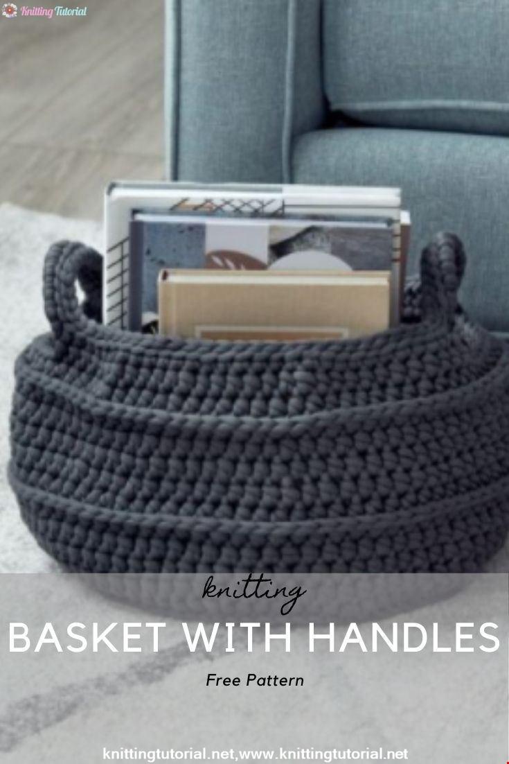 Crochet Basket with Handles