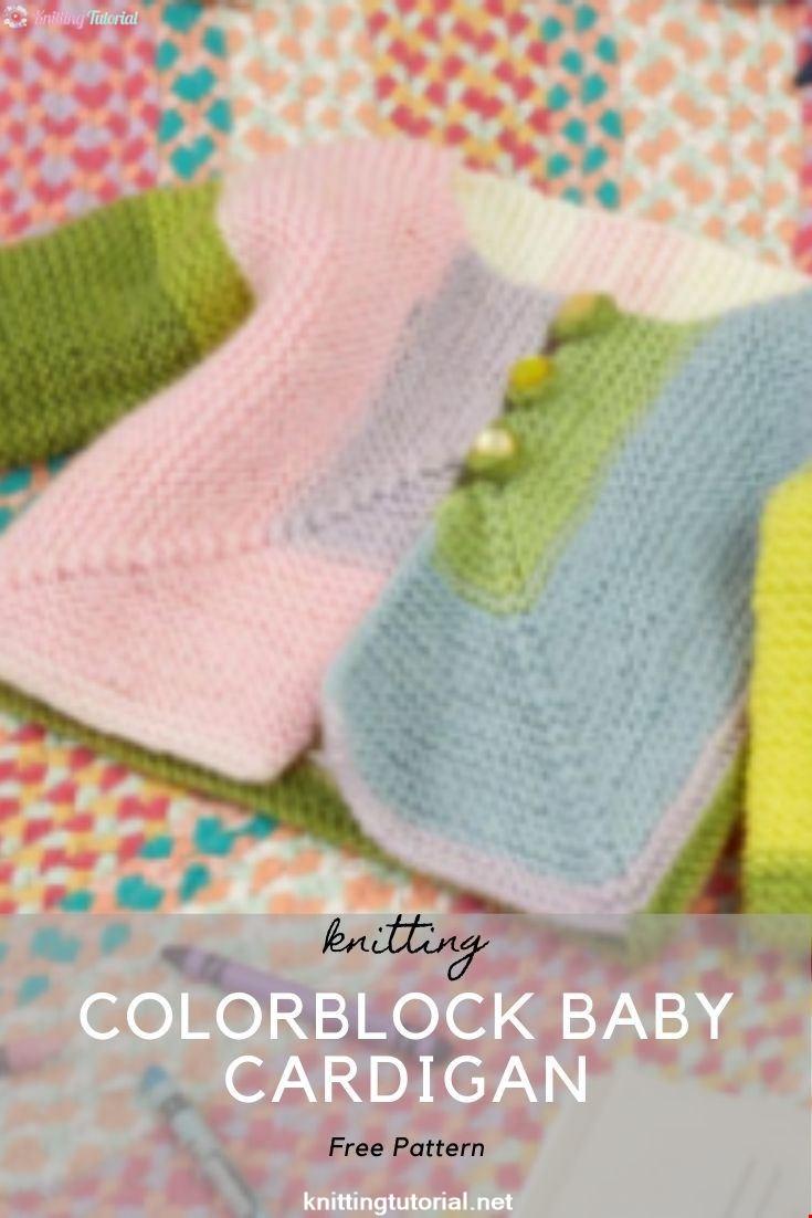 Colorblock Baby Cardigan