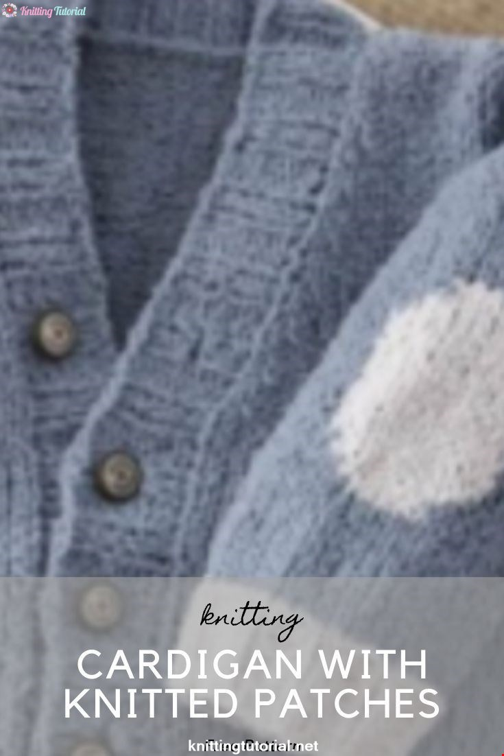 Cardigan With Knitted Patches