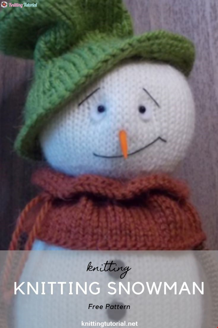 Knitting Snowman