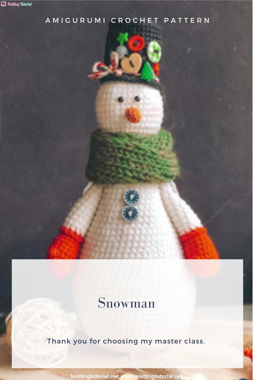 Amigurumi Snowman Crochet Pattern