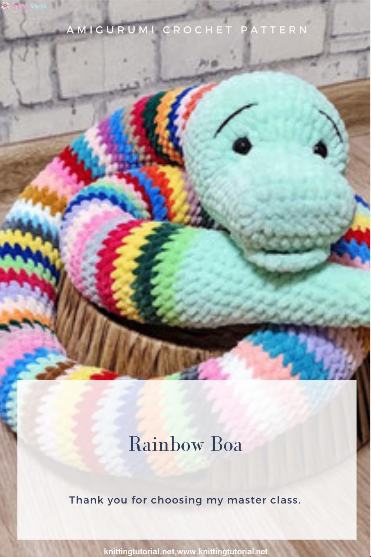 Amigurumi Rainbow Boa Crochet Pattern