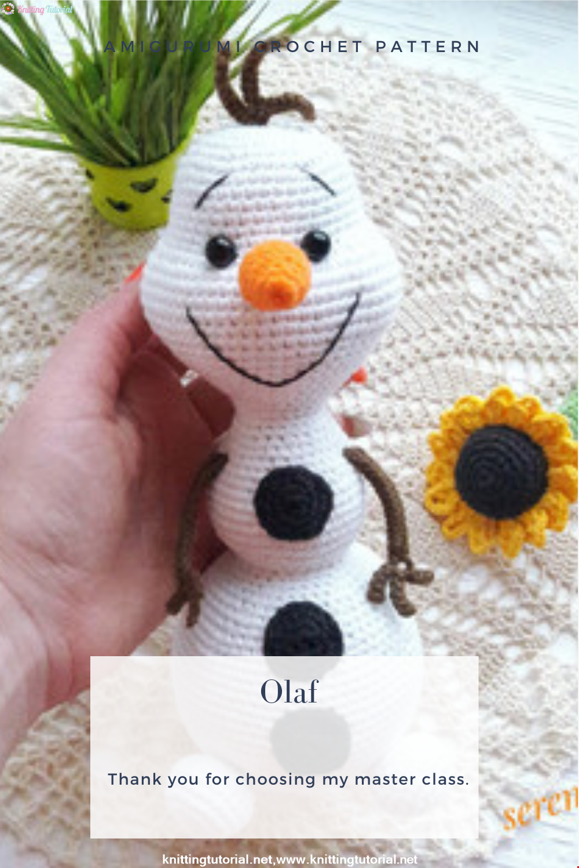 Amigurumi Olaf Crochet Pattern