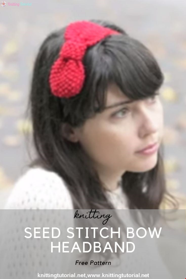SEED STITCH BOW HEADBAND