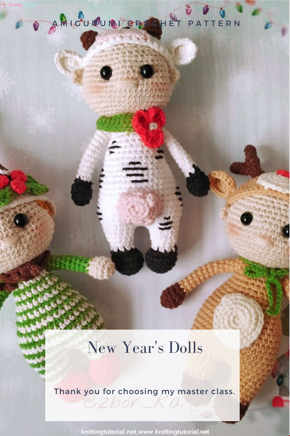 Amigurumi New Year's Dolls Crochet Pattern