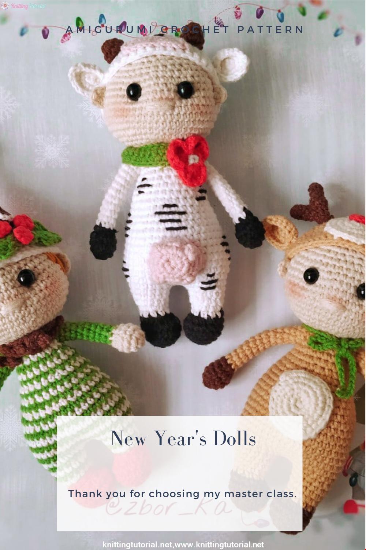 Amigurumi New Year's Dolls Crochet Pattern