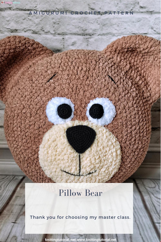 Amigurumi Bear Pillow Crochet Pattern