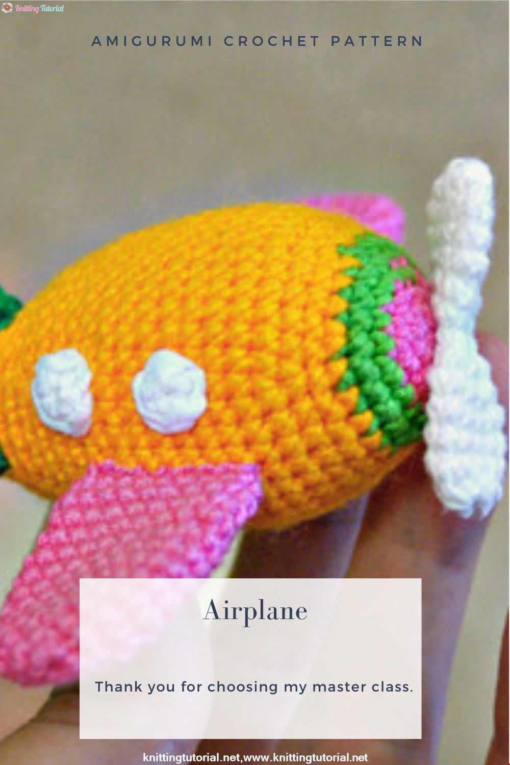 Amigurumi Airplane Crochet Pattern