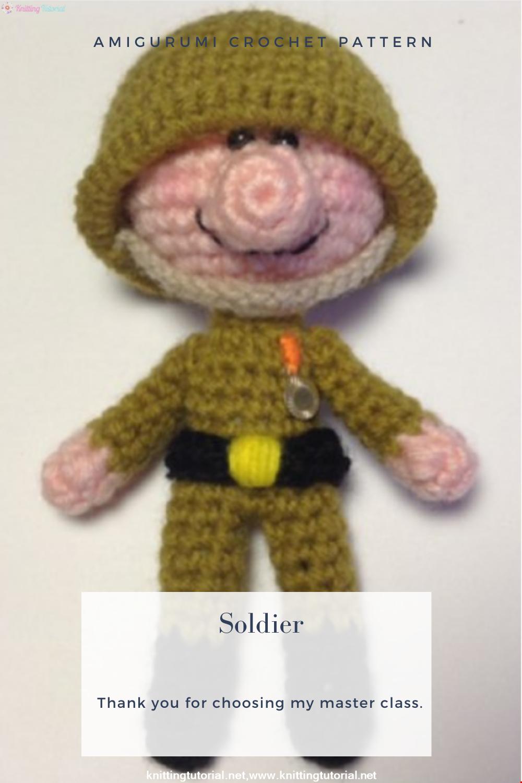 Amigurumi Soldier Crochet Pattern
