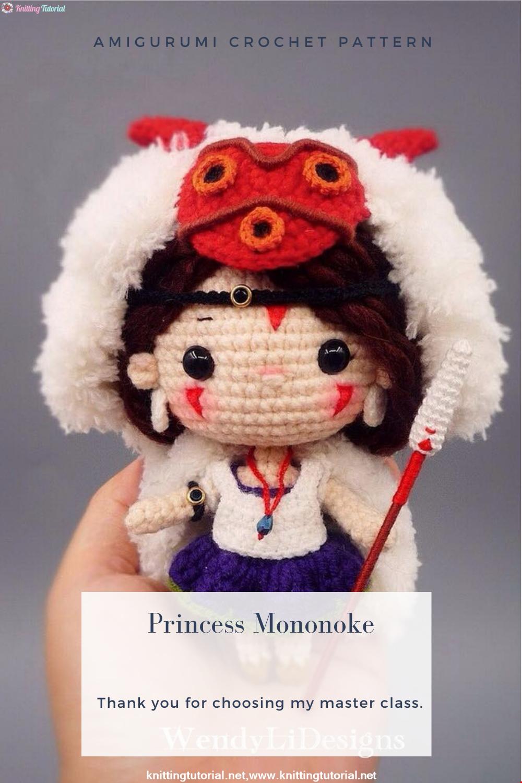 Amigurumi Princess Mononoke Crochet Pattern