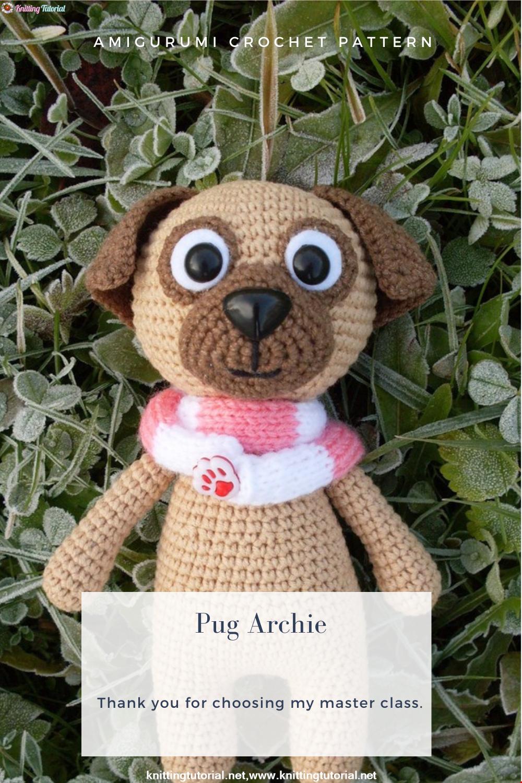 Amigurumi Pug Archie Crochet Pattern